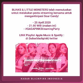 BLAKPINK INDONESIA on April 25 2020 and 5 people text