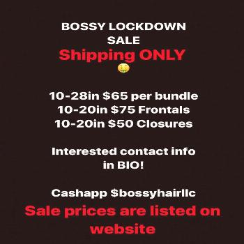 BOSSY HAIR LLC on April 22 2020 possible text that says BOSSY LOC