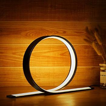 Circle LED Table Lamp, 12W Desk Lamp with Contemporary