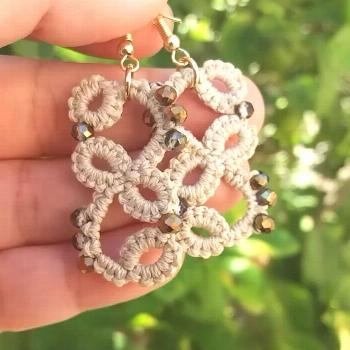 Video shared by Gwgw Tatting Lace Jewelry on April 12 2020 taggin