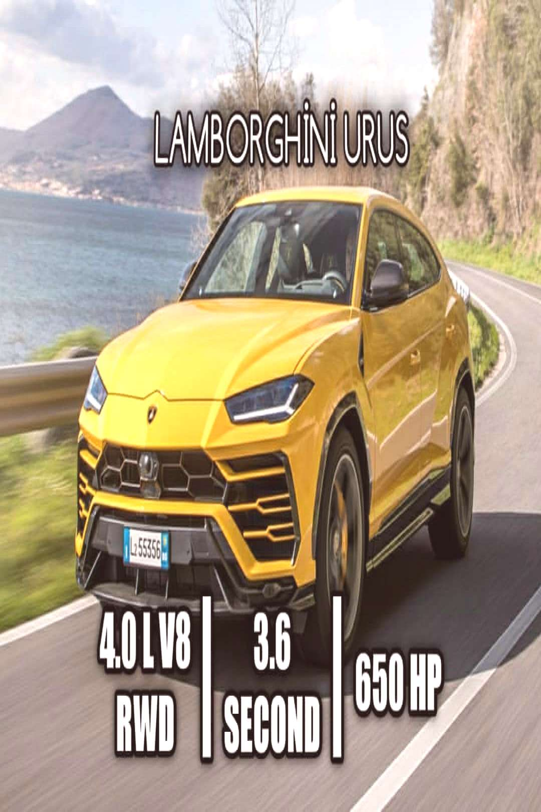 AWD RWD on April 22 2020 text that says LAMBORGHN URUS 40 L V8 RW