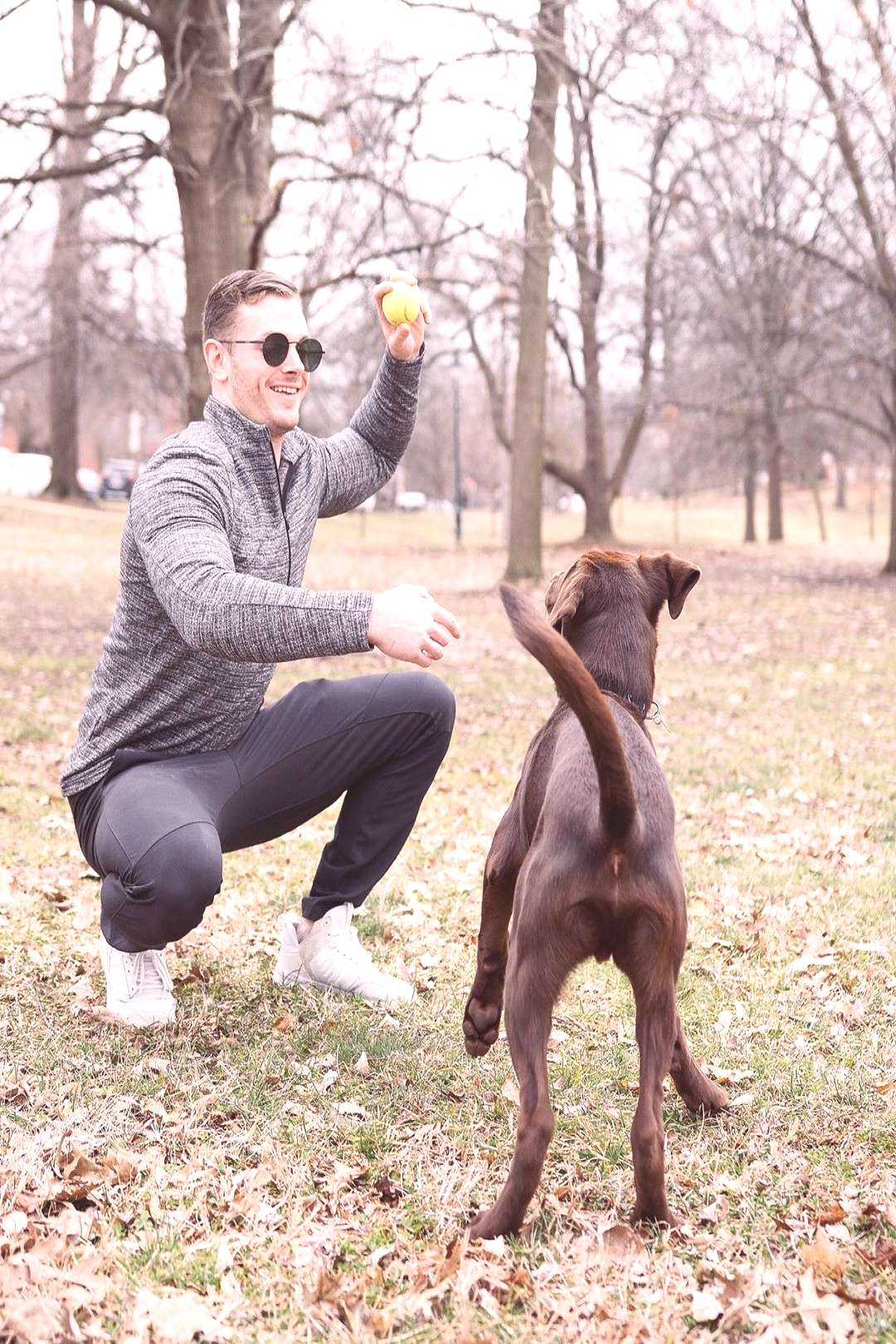 Connor Silverstein on April 22 2020 and 1 person dog tree outdoor