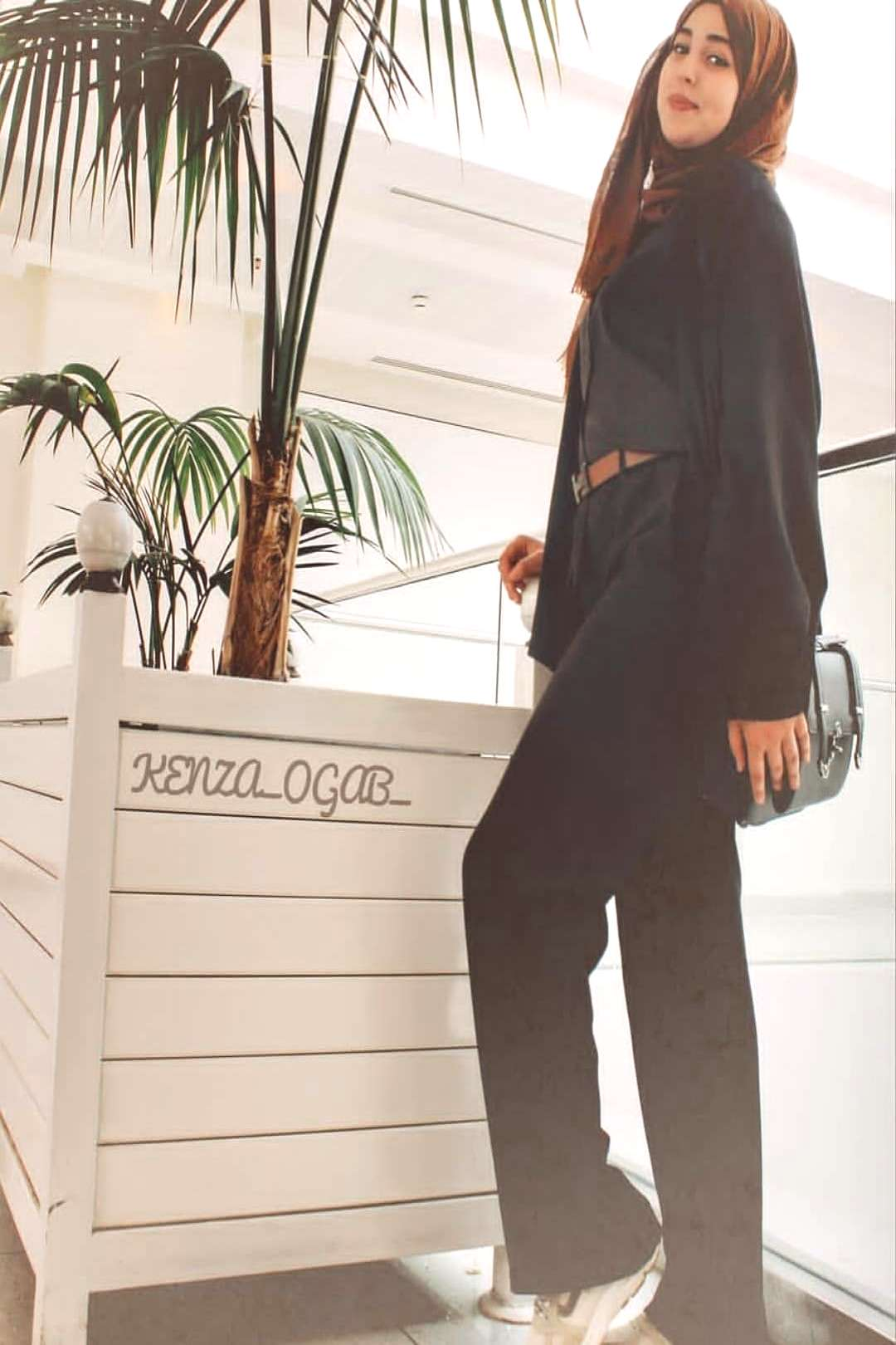 fashion page on April 23 2020 1 person standing