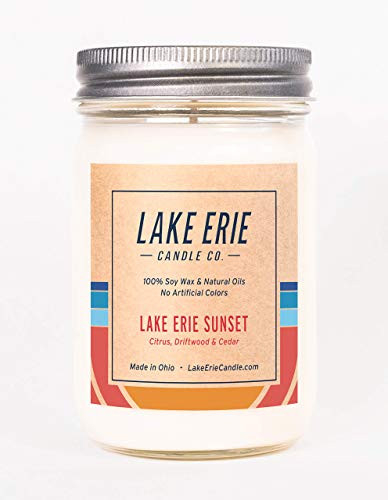Lake Erie Sunset - 12oz Soy wax candle - by Lake Erie Candle