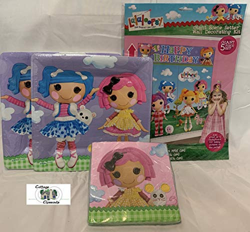 Lalaloopsy Party Pack for 16 guest with plates, napkins and