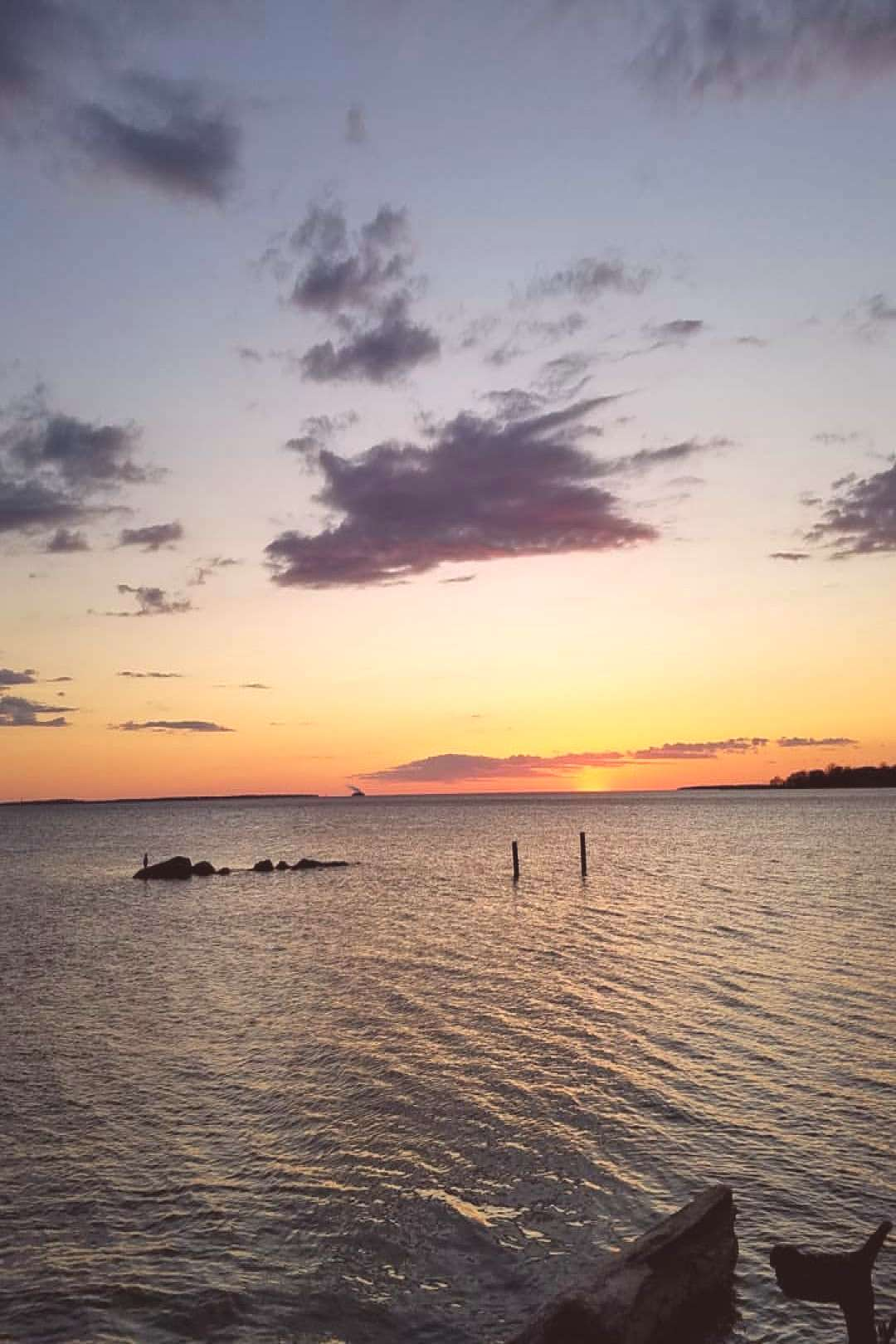 Photo shared by Elaina on April 19 2020 tagging sky ocean cloud t