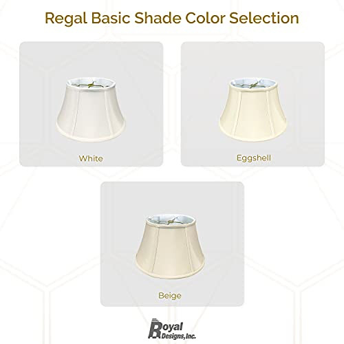 Royal Designs Shallow Drum Bell Bouillotte Lamp Shade,