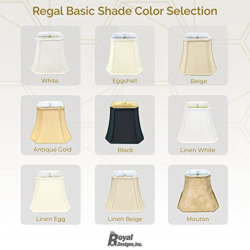 Royal Designs Square Bell Lamp Shade with Cut Corners, Linen