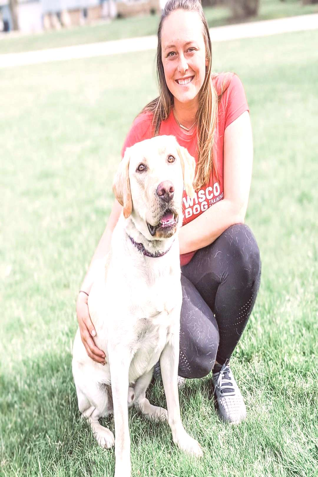 Sara Balanced Dog Trainer on April 20 2020 1 person dog outdoor a