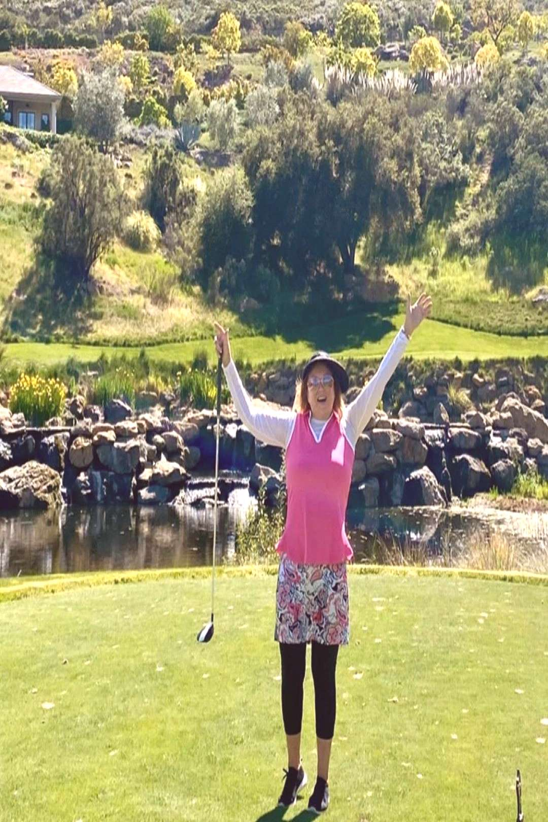 Sherwood CC on April 25 2020 1 person standing mountain grass tre