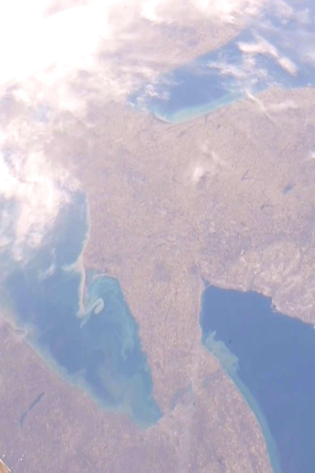 View from Space on April 25 2020 cloud sky and outdoor